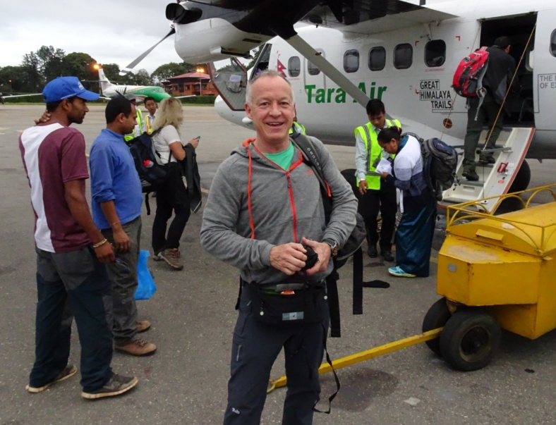 Paul about to fly to Lukla